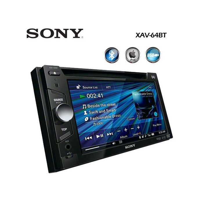 Double din screen Sony XAV64BT 3