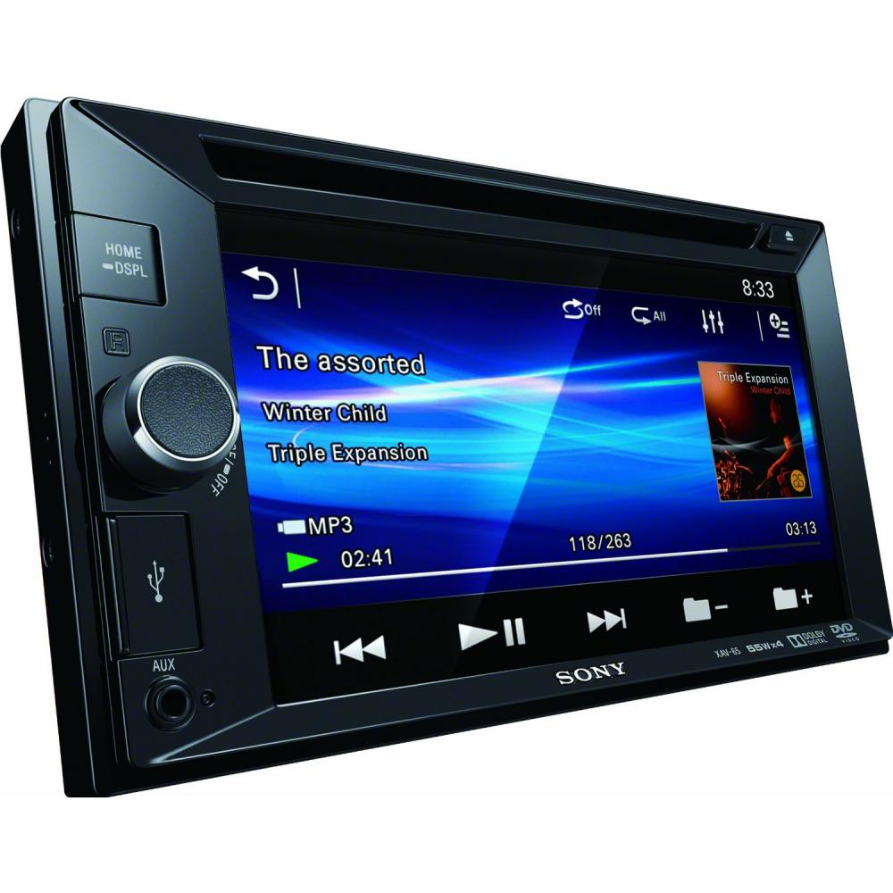 "XAV-65 Double Din CD/MP3/DVD System 6.2"" Touchscreen USB/AU"